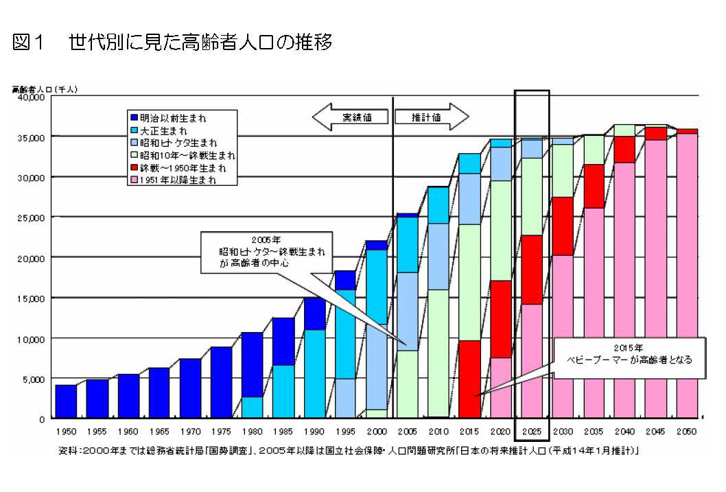 DSPC - 2025年問題とは?図とグ...